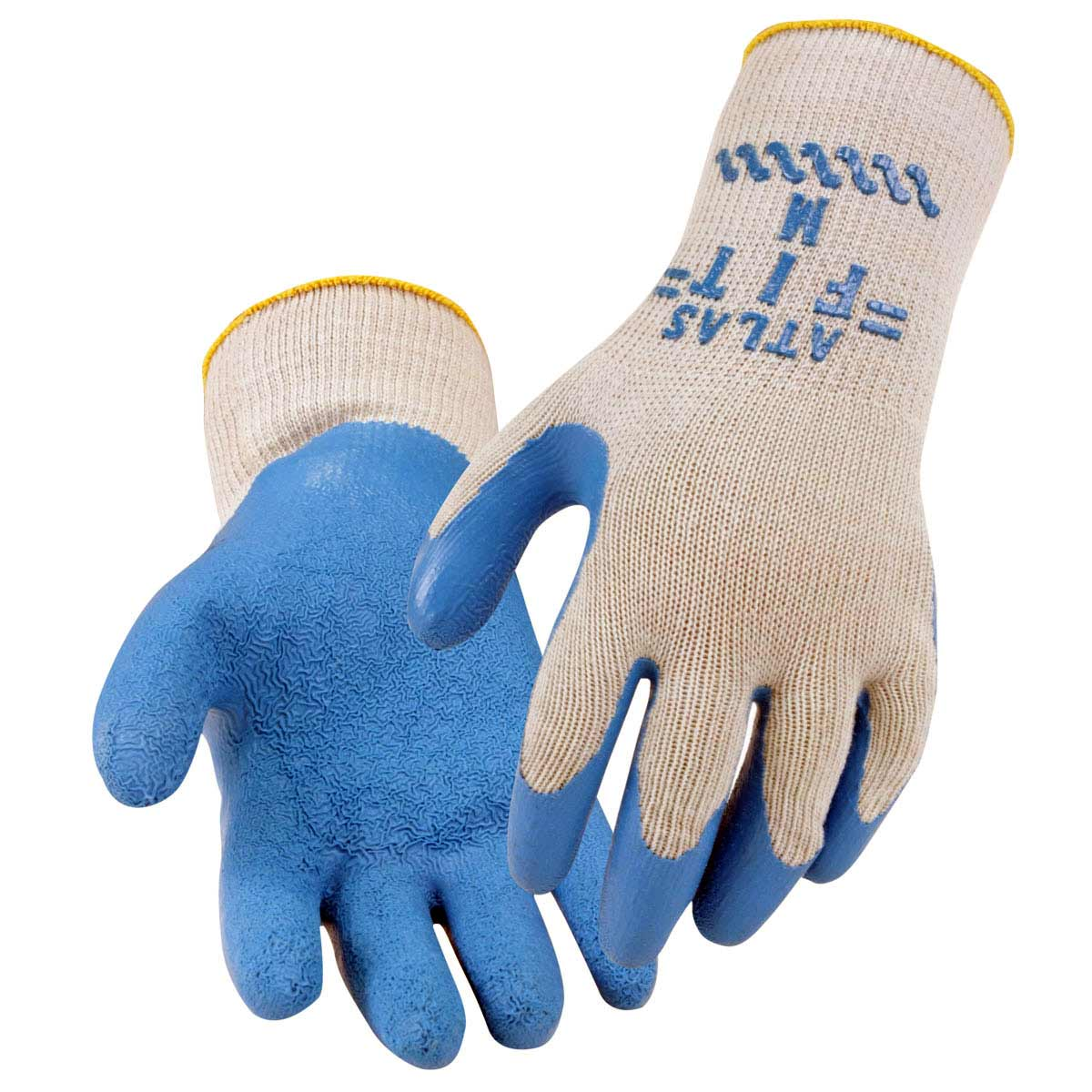 NATURAL RUBBER COATED - COTTON/POLY STRING KNIT SYNTHETIC GLOVES. Pack 12. X Large. 2300XL