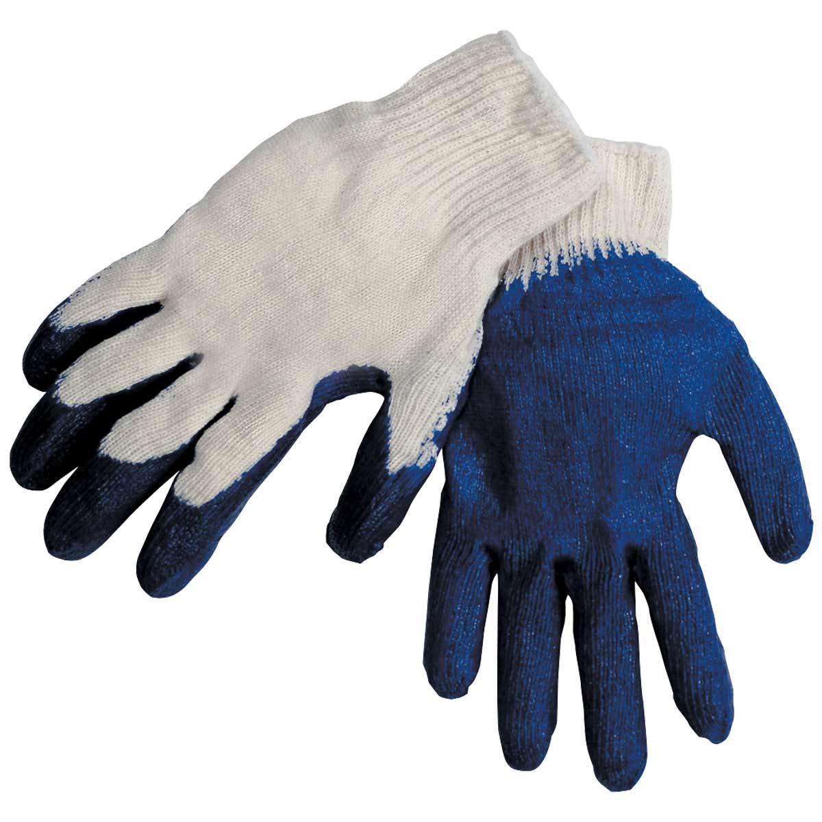 ECONOMYLATEX COATED - COTTON/POLY STRING KNIT SYNTHETIC GLOVES. Pack 12. Large. 2300EEL