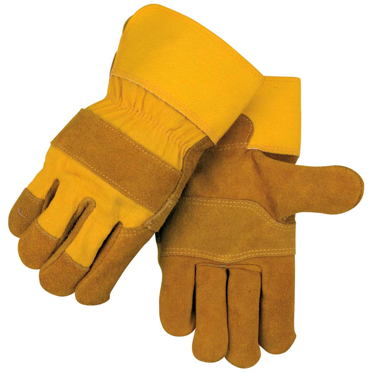 SIDE SPLIT COWHIDE - PATCHED PALM SPECIALTY LEATHER PALM WORK GLOVES. Pack 12. Large. 5Y