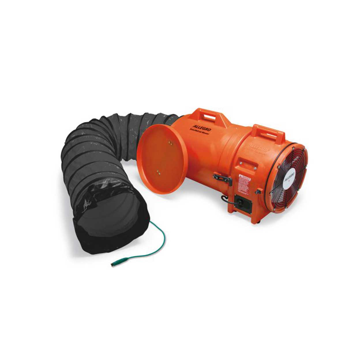 12″ Axial Explosion-Proof (EX) Plastic Blower w/ Canister & 15′ Ducting, 220V/50 Hz. Part: ALL-9548-15E. Pkg: 1