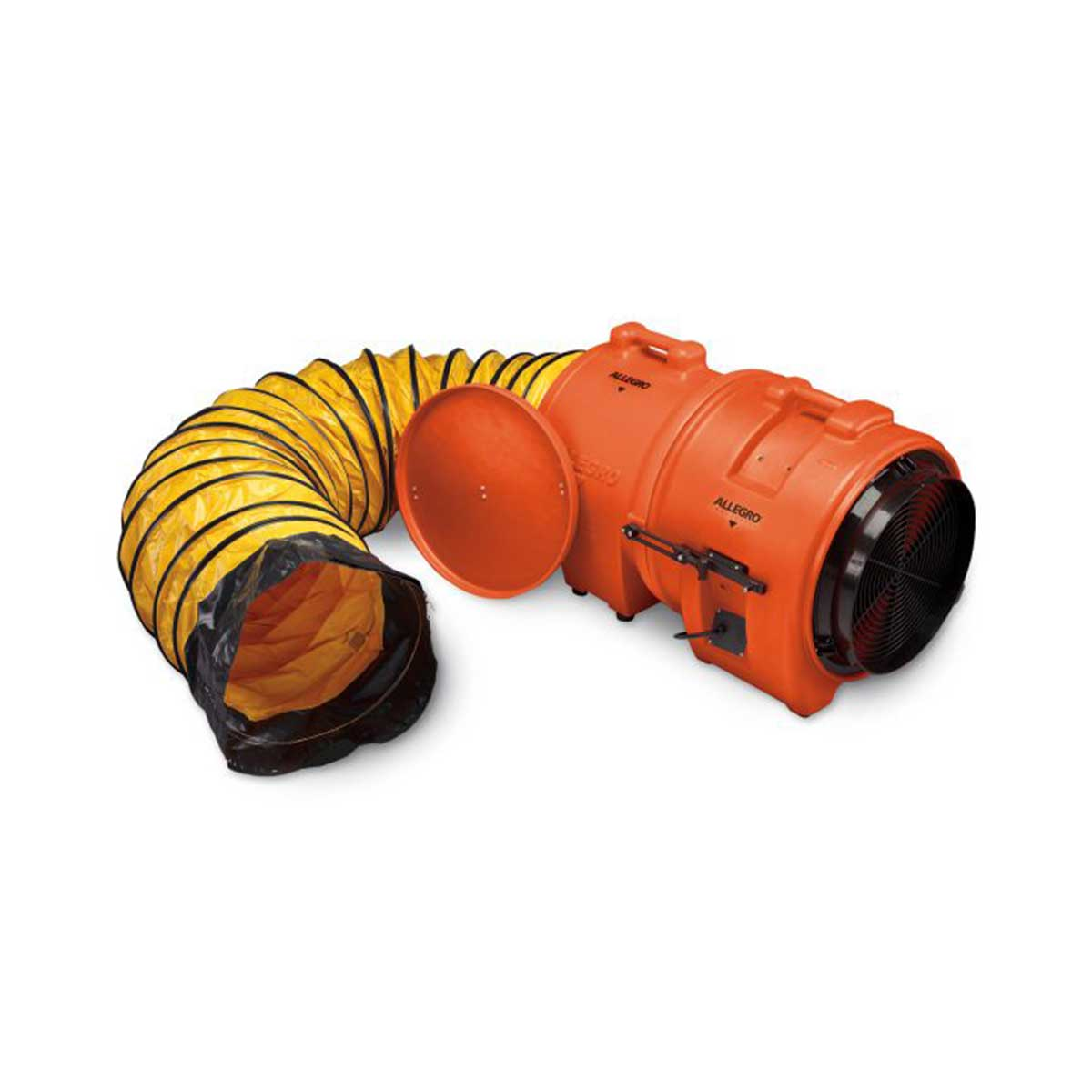 16″ Axial DC Plastic Blower w/ Canister & 25′ Ducting, 12V. Part: ALL-9556-25. Pkg: 1