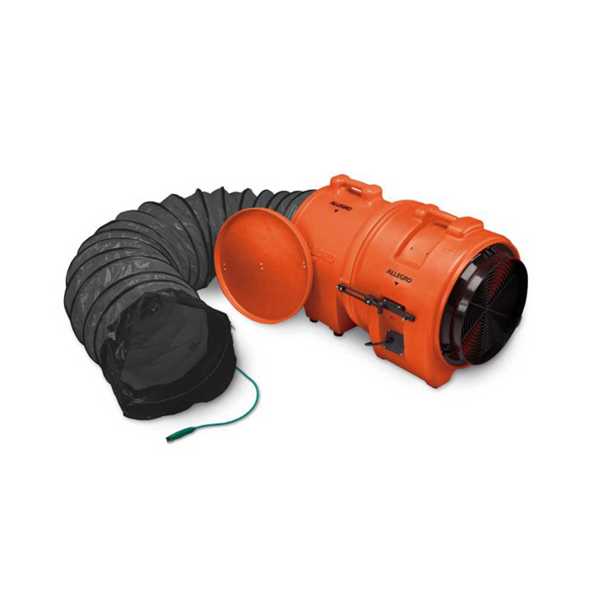 16″ Axial Explosion-Proof (EX) Plastic Blower w/ Canister & 15′ Ducting. Part: ALL-9558-15. Pkg: 1