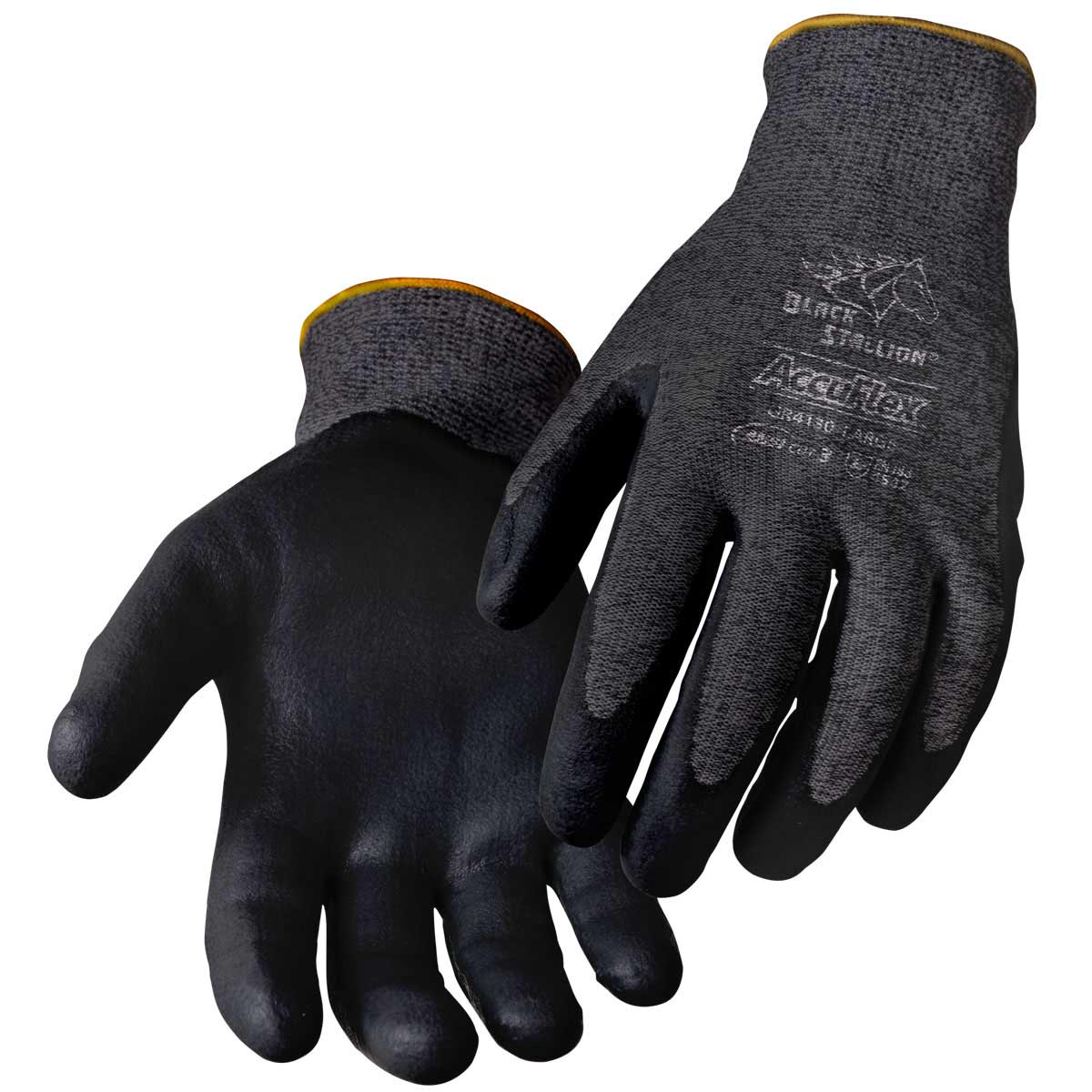 CUT RESISTANT SANDY NITRILE COATED HPPE GLOVES. Pack 12. X Large. GR4130-CH-XLG