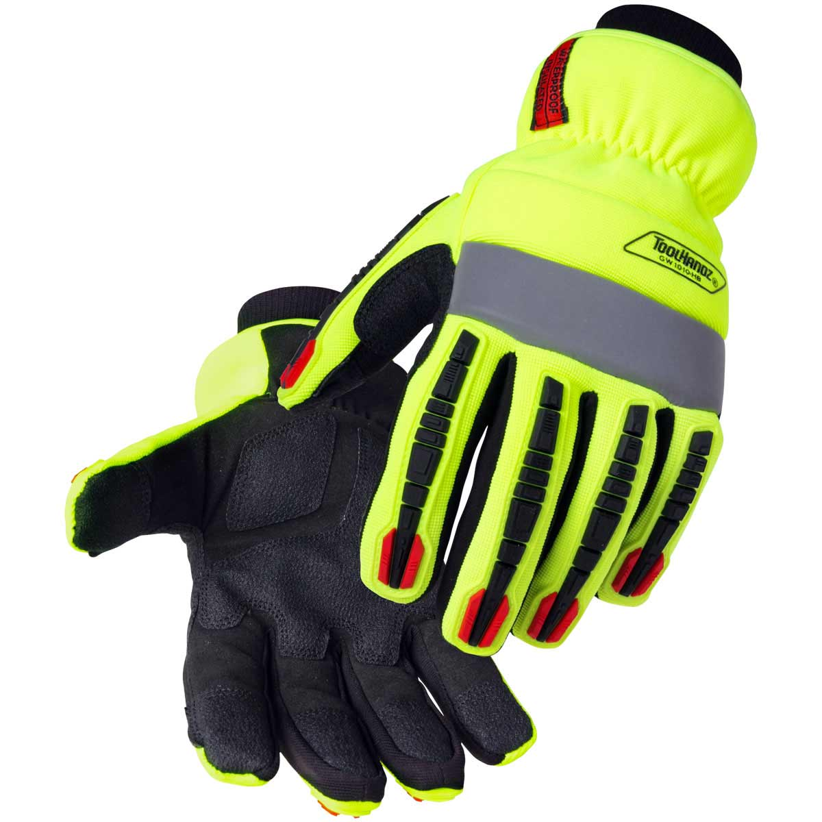 TOOLHANDZ HI-VIS SYNTHETIC LEATHER WINTER GLOVES. Pack 6. X Large. GW1010-HB-XLG