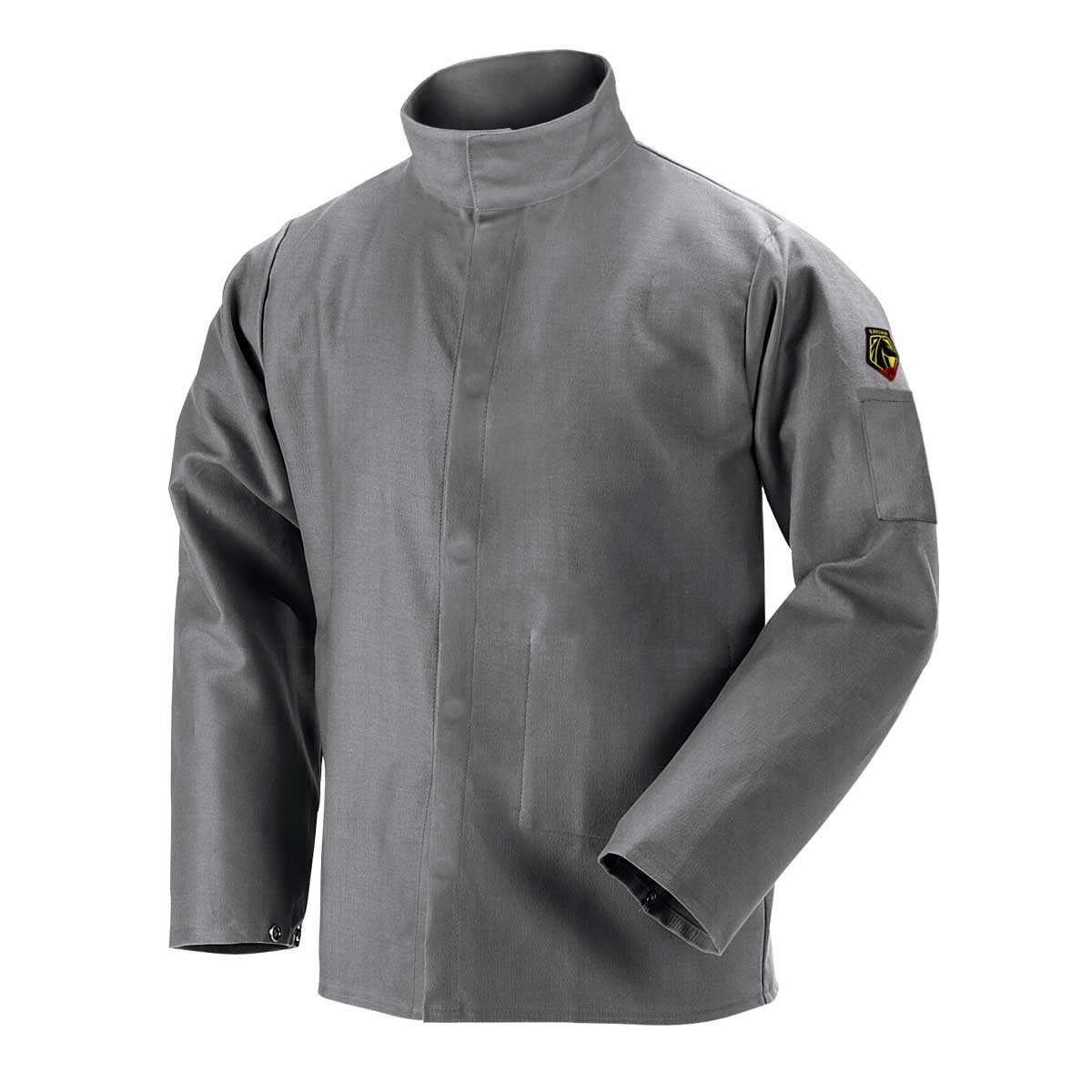 9 OZ DELUXE FLAME RESISTANT COTTON WELDING JACKET - NFPA 2112, NFPA 70E. Pack 1. X Large. JF2220-GY-XLG