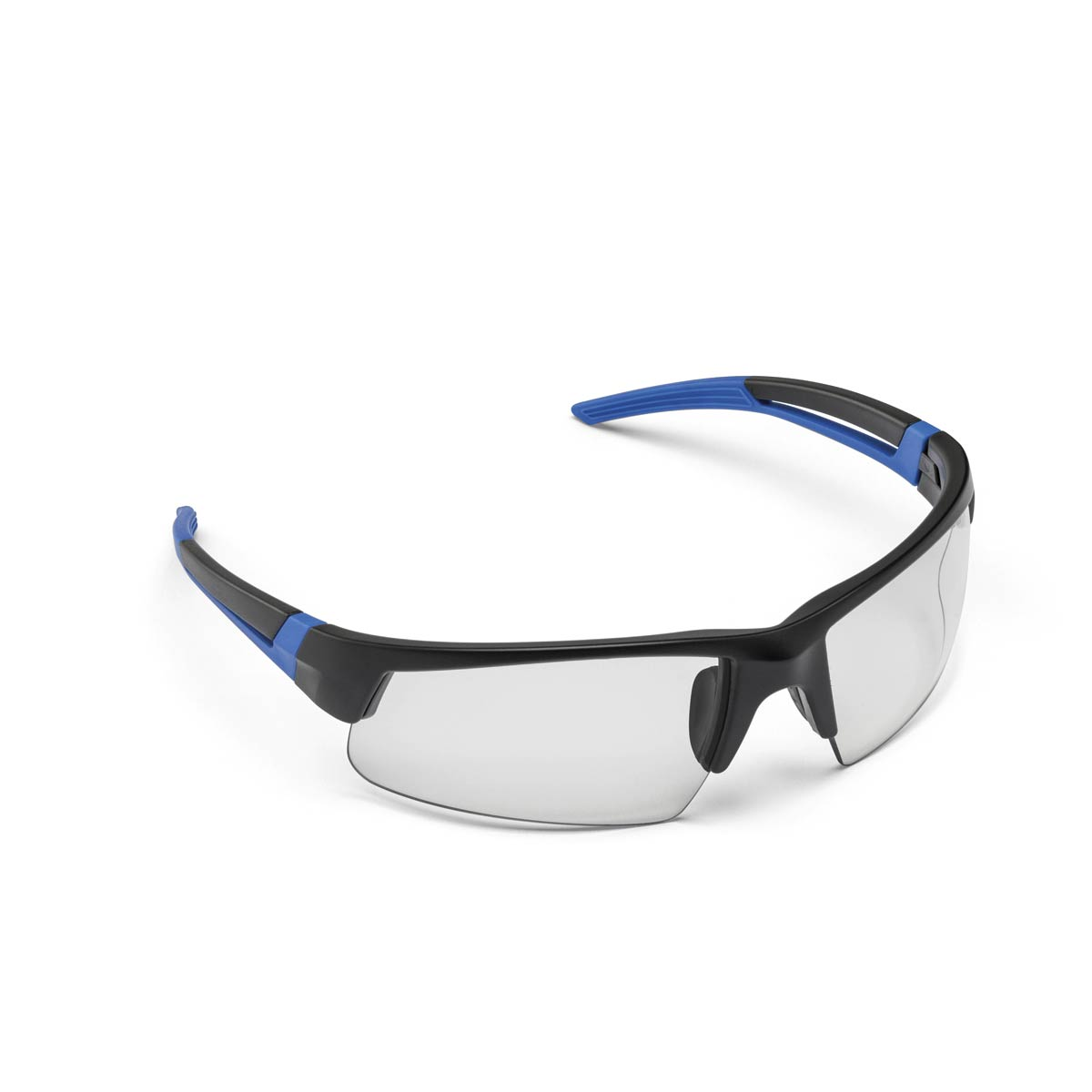 SAFETY GLASSES SPARK BLACK & BLUE CLEAR. Part: 272190. Pack: 1