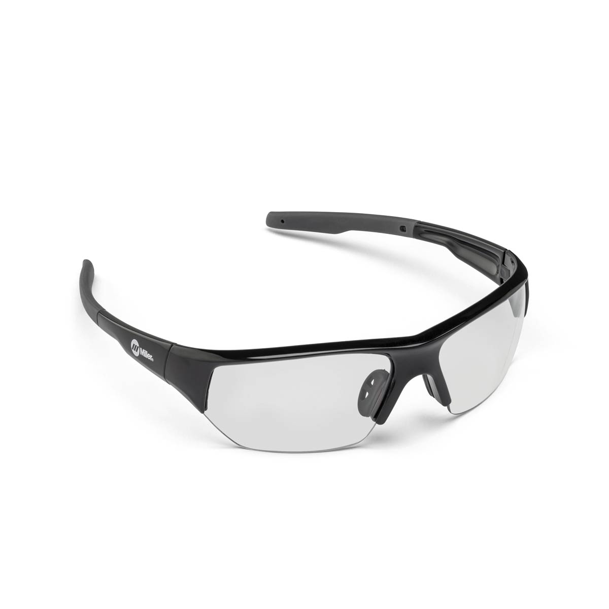 SAFETY GLASSES SPATTER BLACK CLEAR. Part: 272191. Pack: 1