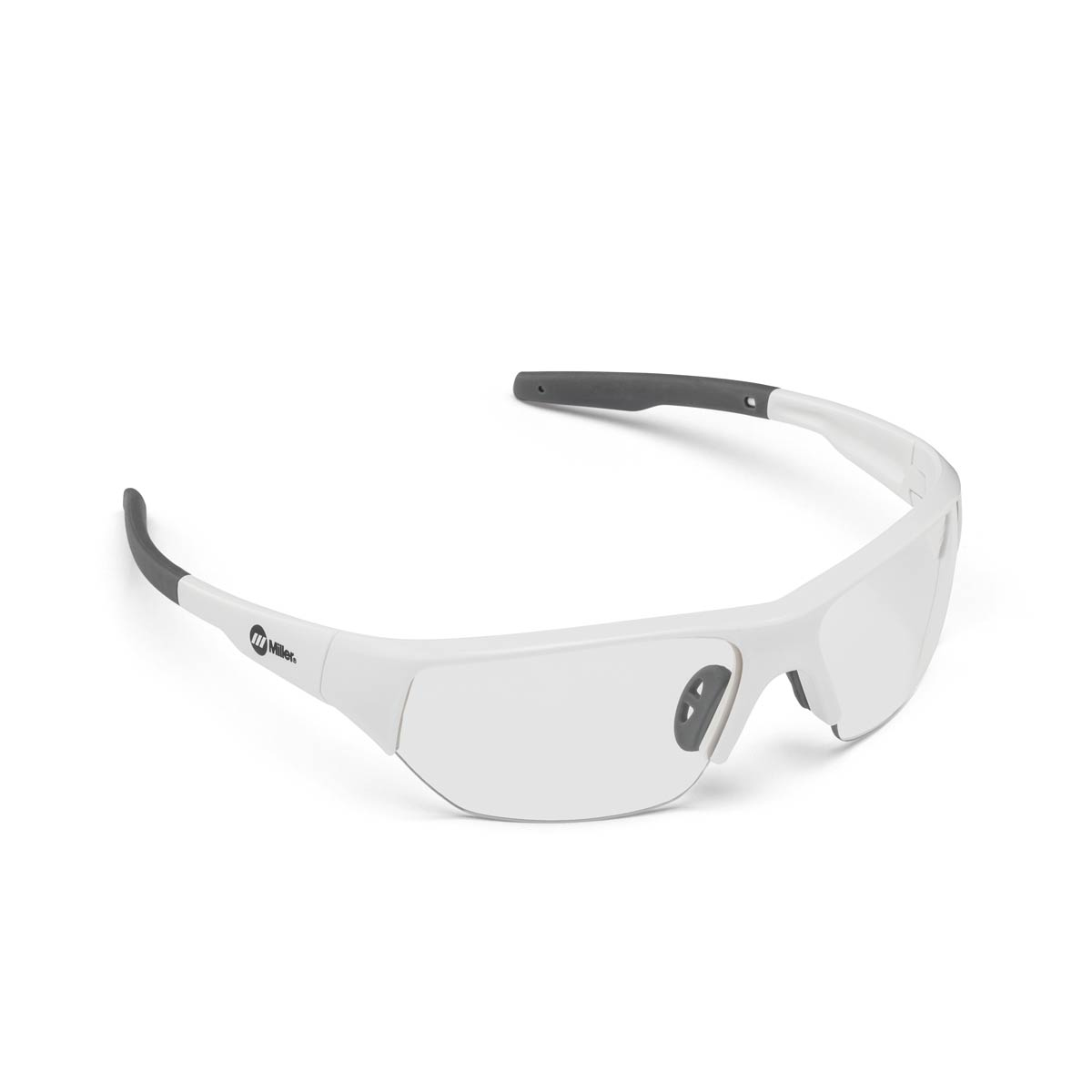 SAFETY GLASSES SPATTER WHITE CLEAR. Part: 272198. Pack: 1
