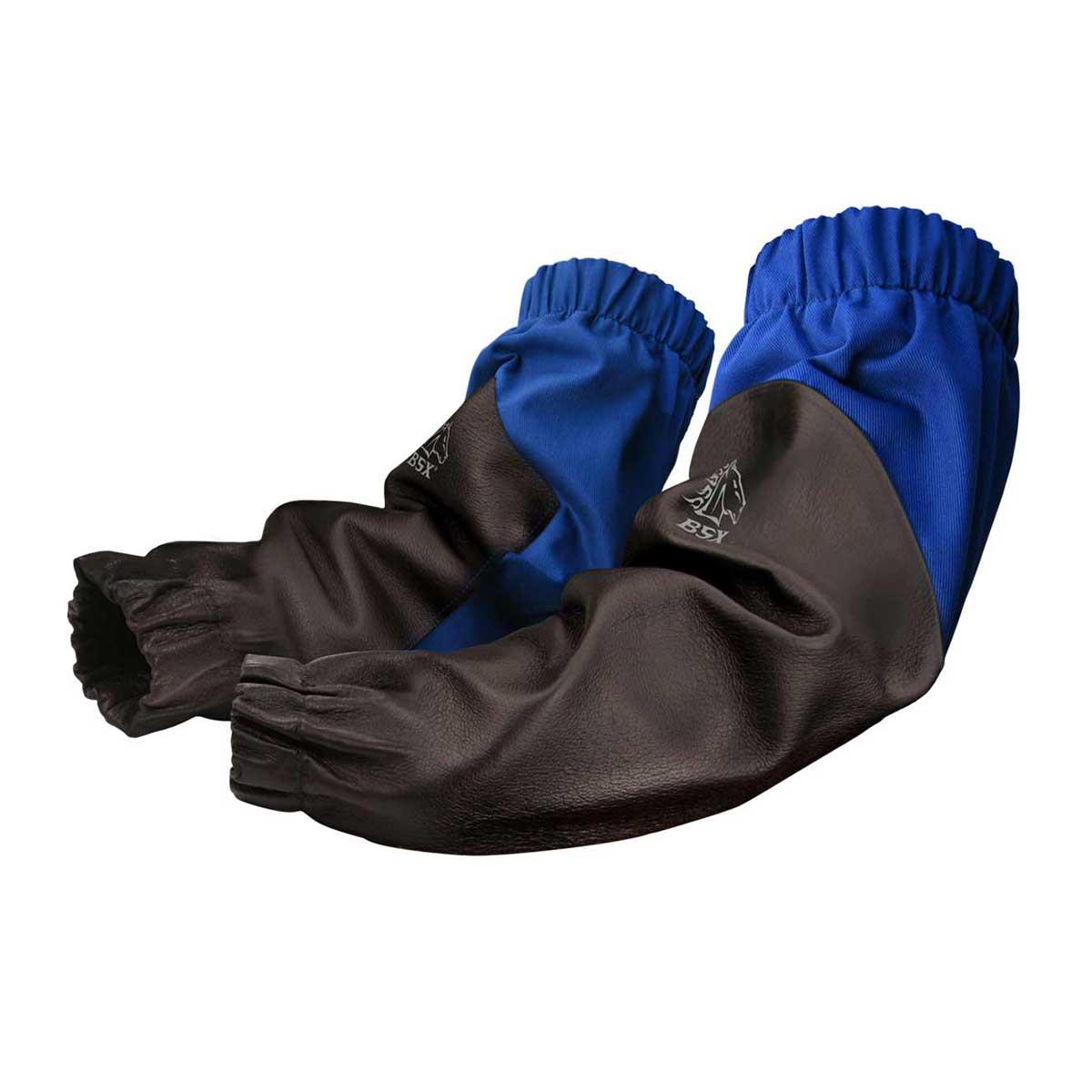 BSX ROYAL BLUE FR/BLACK REINFORCED GRAIN PIGSKIN SLEEVES. Pack 1. 19″. 60-8021